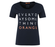 T-Shirt mit Print nachtblau