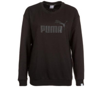 'Essential No.1 Crew' Sweatshirt Damen schwarz