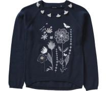 Pullover für Mädchen dunkelblau / weiß