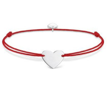 Armband 'Herz' rot / silber
