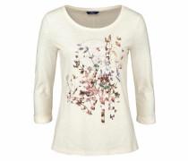 3/4-Arm-Shirt braun / rosa / silber / offwhite
