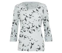 Shirt 'jess' graumeliert / schwarz