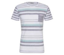 T-Shirt 'tohemi T/s' blau / grün / weiß