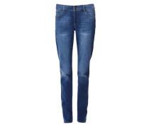 Smart Straight: Anschmiegsame Jeans blau