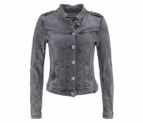 Jeansjacke mit Used-Waschung grey denim
