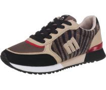'Gansa' Sneakers beige / braun / schwarz