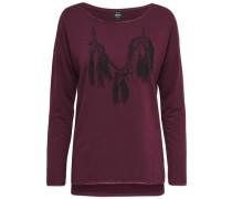 Detailliertes Sweatshirt rot