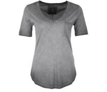 T-Shirt 'vneck Paillette' grau
