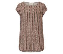 Shirtbluse mit Allover-Ethno Muster mischfarben