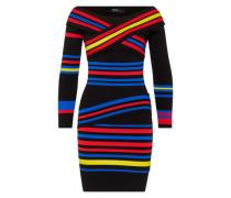 Kleid mit Streifen-Design 'Loca' blau / gelb / pink / schwarz