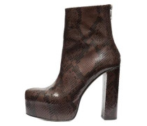 Plateau-Patent-Schlangenmuster-Stiefel pink