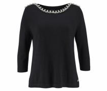 3/4 Arm-Pullover schwarz