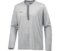Henley Wool Funktionsshirt grau