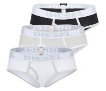 3er-Pack Slips 'Oxy' grau / schwarz / weiß