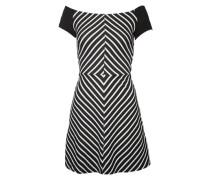 Streifenkleid im 50ies Look schwarz / weiß