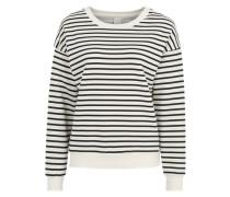 Sweatshirt 'Lemaja' weiß / schwarz