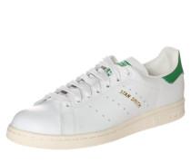 Flacher Sneaker aus Leder 'Stan Smith' grün / weiß