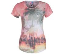 T-Shirt mischfarben / pastellrot