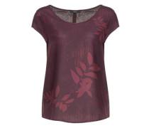 Shirtbluse 'Flinka botanical' weinrot