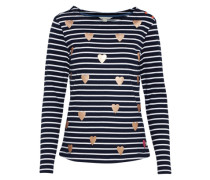 Sweater 'Heart Stripe' navy / gold