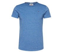 T-Shirt in Melange-Design kobaltblau