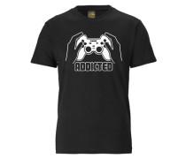 "T-Shirt ""addicted"" schwarz"
