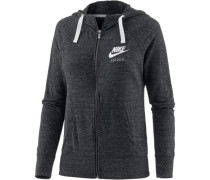 'Gym Vintage' Sweatjacke Damen anthrazit