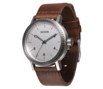 Armbanduhr 'Stark Leather' braun / silber
