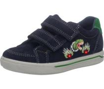 Halbschuhe Blinkies Weite W für breite Füße für Jungen navy / dunkelgrün / weiß