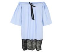 Offshoulder-Kleid 'Violette' hellblau / schwarz / weiß