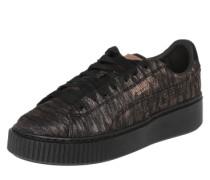 Sneaker 'Basket Platform' schwarz