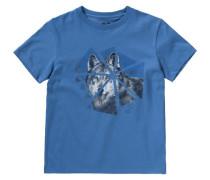 T-Shirt 'wolf' für Jungen blau
