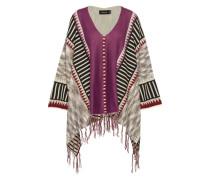 Poncho 'tribe Wars' grau / mischfarben