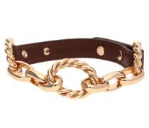 Armband Leder Roségold/Braun Ubb21356 braun
