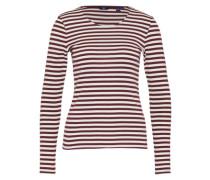 Shirt im Streifen-Design lila / weiß