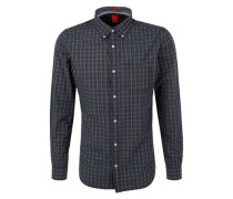 Slim: Button-Down-Karohemd mischfarben