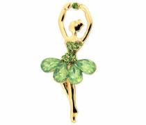 Brosche »Ballerina 6248« gold / hellgrün