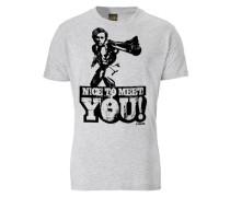T-Shirt Nice TO Meet YOU grau / graumeliert / schwarz
