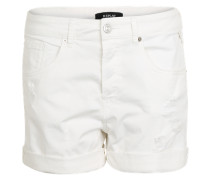 Shorts im Used-Look weiß