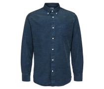 Slim Fit - Langarmhemd blue denim
