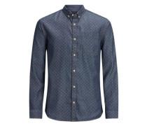 Langärmeliges Hemd blau
