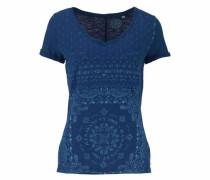 H.i.s Print-Shirt royalblau