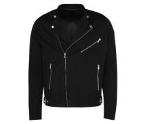 Jacke im Bikerlook schwarz