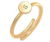 Ring Initial Buchstabe - S goldgelb
