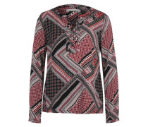 Langarm-Bluse mit V-Ausschnitt mischfarben
