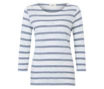 Streifen-Shirt creme / blau