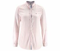 Hemdbluse pink / weiß