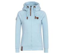 Female Zipped Jacket Brazzo Jeck V blau
