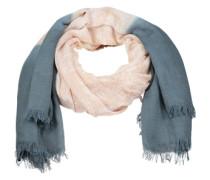 Leichter Dip-Dye-Schal mit Paisleymuster rauchblau / nude / blau