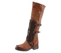 Stiefel karamell / dunkelbraun